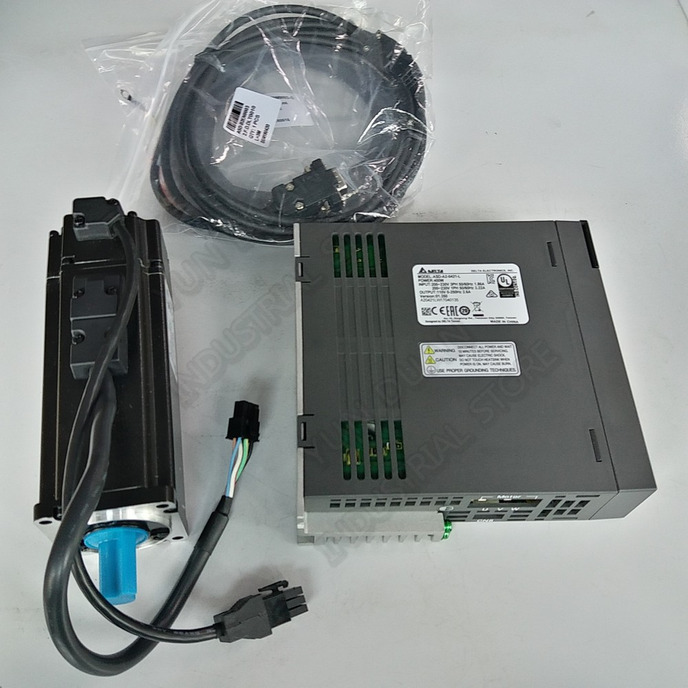 Delta A2 400W ASD-A2-0421-L ECMA-C10604RS AC Servo 220V Motor Drive Kits 0.4KW 1.27Nm 3000rpm NEMA24 60MM with 3m Cable