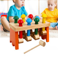 Wooden Piling Table Baby Knocking Table Exercise Baby Hand eye Coordination Children's Educational Toys a523