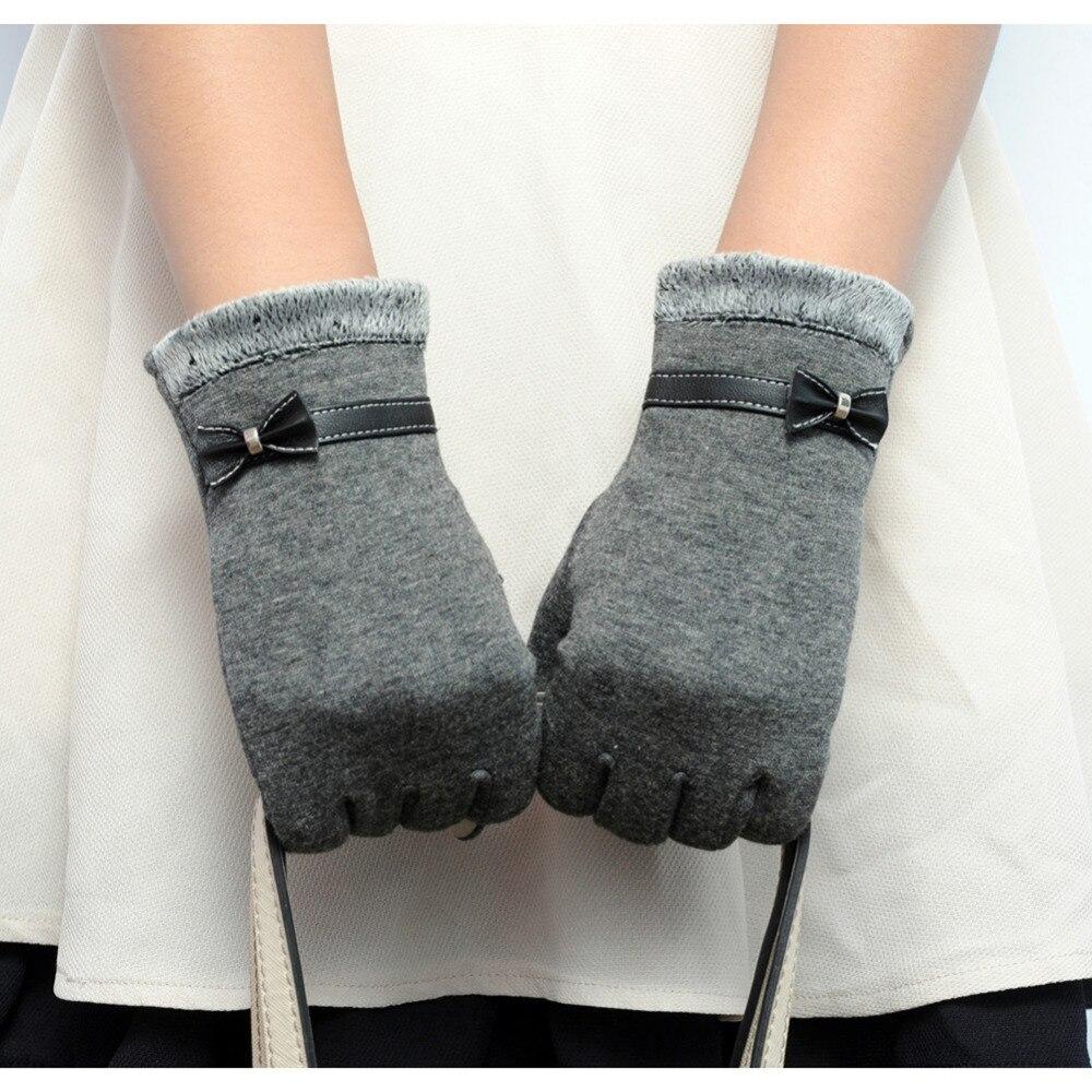 Image Girls Women Fashion Winter Warm Touch Screen Outdoor Full Fingers Wrist Gloves