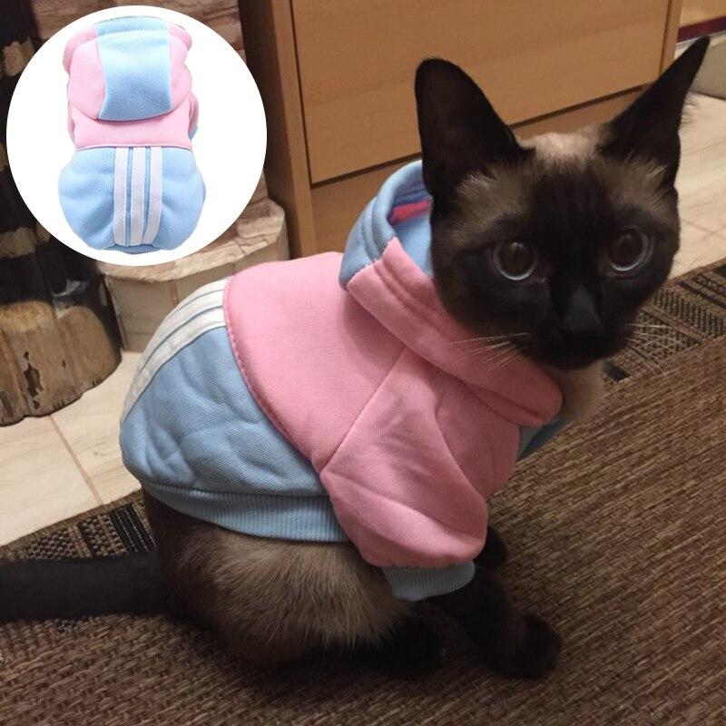 Новая Теплая Одежда для кошек, зимняя одежда для кошек, модная спортивная толстовка с котенком, мягкие костюмы для кошек, товары для домашни...