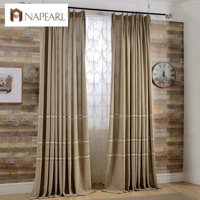 Modern Window Curtain With Flower Design: Modern Curtain Window Drapes Simple Design Plain Linen
