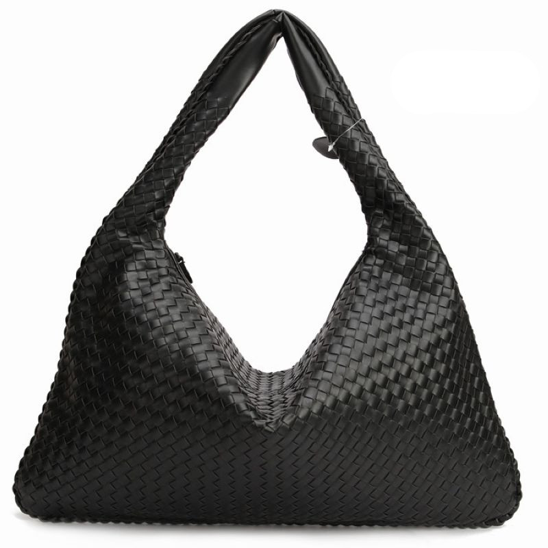 Hand-Weaving Women Bag Handbag Fashion Casual Dumplings Bag 2018 New Leather Ms. Tote Shoulder bag~Star models~16B4 yuanyu 2018 new hot free shipping python leather handbag leather handbag snake bag in europe and the party hand women bag