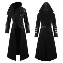 Лидер продаж, винтажное длинное стильное пальто на молнии для мужчин, Осень-зима, приталенное пальто, верхняя одежда, вечерние, для сцены