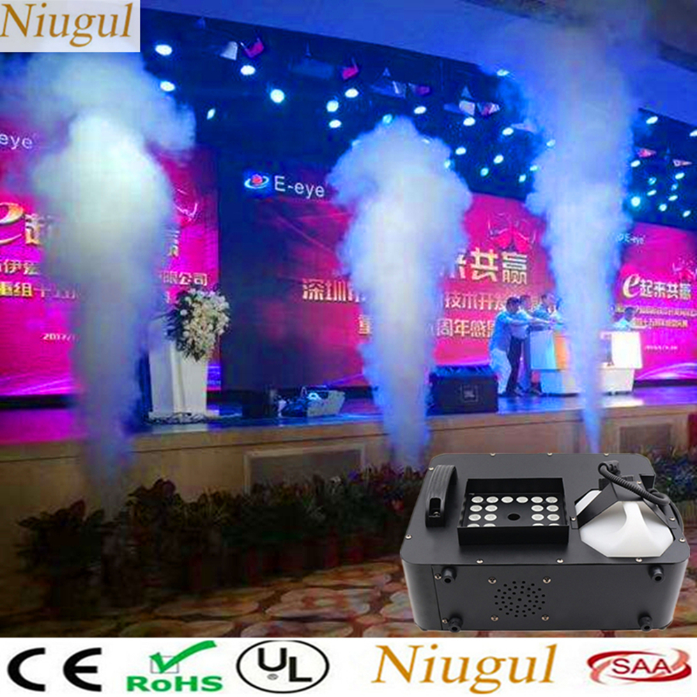 LED 1500W Fog Machine/Disco DJ Vertical Smoke Machine With 24X9W RGB 3IN1 LED Lights/DMX 1500W Fogger For Bar Wedding Home Party