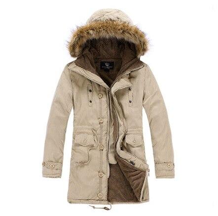 Men Winter Jackets Men Fur Hooded Warm Korean version Coats  Jacket Men  Thick Outwears Long section Coat xd17-m02