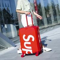 Luggage bag new style Universal wheel Pull rod box fashion Unisex Spinner Hardside Luggage maletas de viaje con ruedas envio