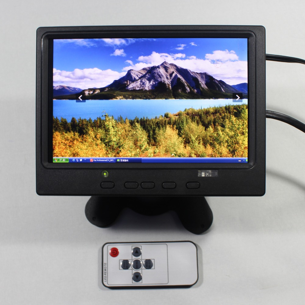 7inch Lcd monitor 1280*800 with HDMI+VGA+AV input signal +US Power supply for bus and desk monitor VS-T0702UNB-V1 aputure vs 5 7 inch sdi hdmi camera field monitor with rgb waveform vectorscope histogram zebra false color to better monitor