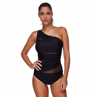 One Piece Swimsuit Women Swimwear Female Retro Plus Size Swimwear Monokini Push Up Padded Bikini Large