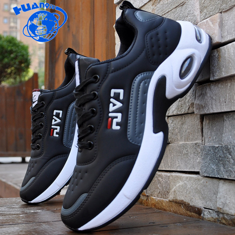 HUANQIU 2019  New Style Men Causal Shoes Outdoor Sneakers Lace Up Increase Shoes Comfortable Light Soft Free Shipping ZLL669 zapatillas de moda 2019 hombre