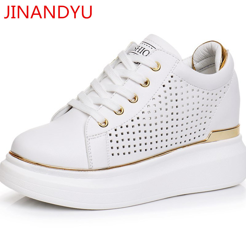 5d7e4e7111b HOT SALE] Spring Autumn New Designer Wedges White Ladies Shoes Woman ...