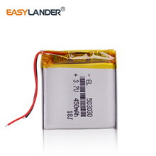 503030 3,7 v 500 mah 453030 литий-полимерная аккумуляторная батарея для рекордера видеорегистратор дляя автомобиля Mp3 dvd-камера gps bluetooth динамик