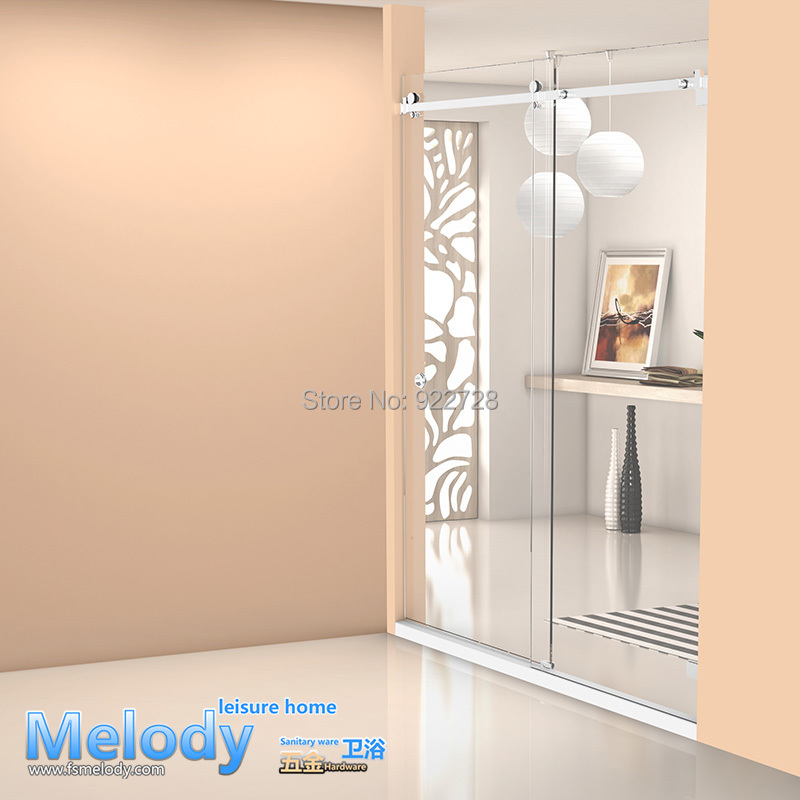 Me-002 Frameless Bath Rooms Shower Sliding Doors Whole Set  Cabin Hardware 304 Stainless Steel