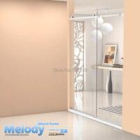 Me 002 Frameless Bath rooms Shower Sliding doors Whole set cabin Hardware 304 stainless steel