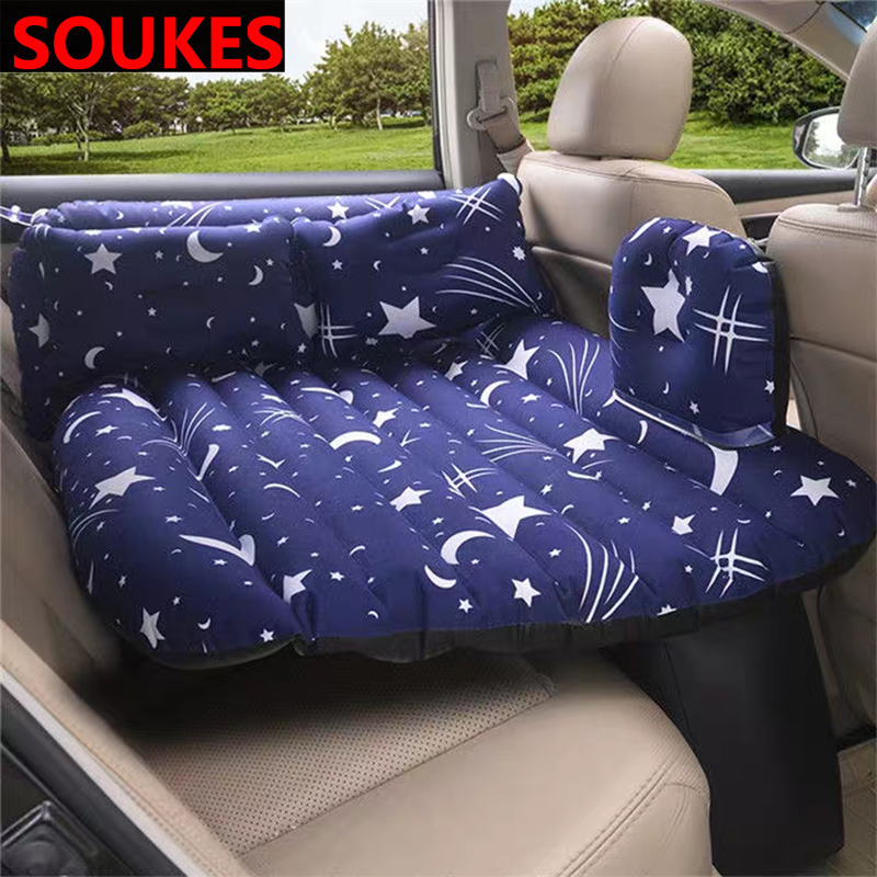 Car Inflatable Travel Mattress Child Rear <font><b>Exhaust</b></font> Bed For <font><b>VW</b></font> Passat B5 B6 Polo <font><b>Golf</b></font> <font><b>4</b></font> 5 Chevrolet Cruze Lada Granta RAM image
