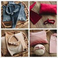 Newborn Photography Props creative Luxury Velvet Sleeping Cap + Pillow + Headband 3PCS fashion Soft Baby Photo Prop Hat