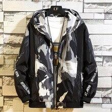 2019 Fashion Hooded Jackets Men Patchwork Color Black Pullover Jacket Tracksuit Coat Hip Hop Streetwear