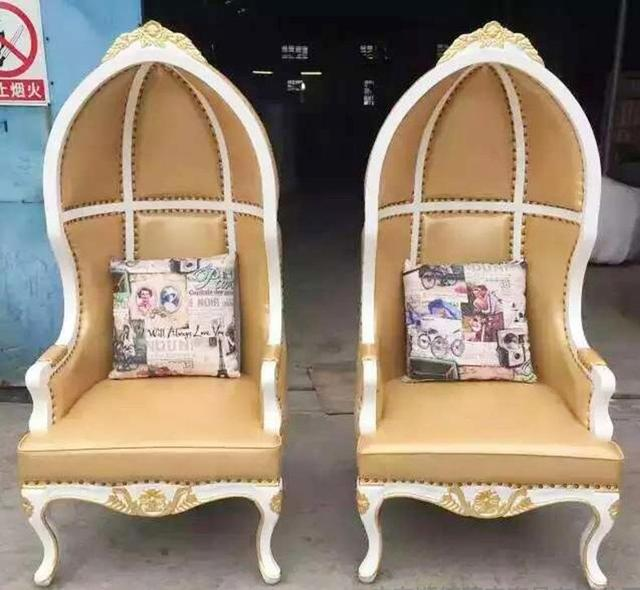 Style Europeen Princesse Chaise Salle A Manger Chaise Pour Jaune