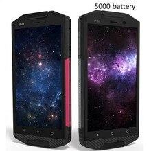 D'origine Guophone T5 Étanche IP68 Antichoc Smartphone 5000 mAh Android 6.0 Quad Core 4G Lte 2 GB RM 16 GB ROM 8MP mobile téléphone