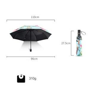 Image 2 - אוטומטי מתקפל פרח מטריית גשם נשים שלוש מתקפל מותאם אישית אור נשי גשם כלים ייחודי ילדה שמשייה מטריות
