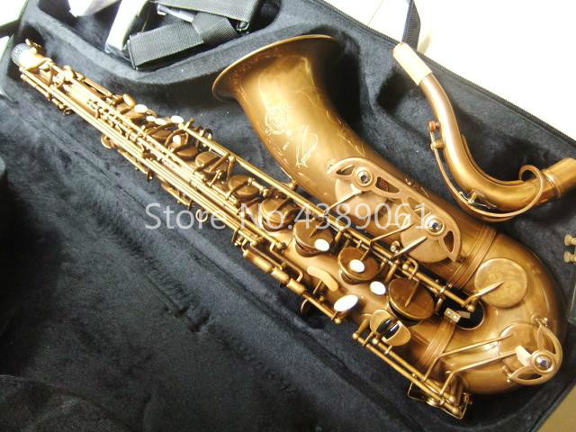 Selma STS-R54 Unique Coffee Gold Bb Tone Tenor Saxophone Professional Brass Musical Instruments 54 Sax With Case Free Shipping tenor sax saxophone bb antique brass surface wind instrument sax western instruments saxofone musical instruments saxophone