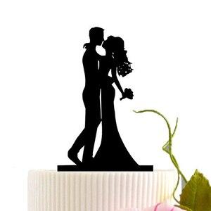 Image 2 - Acrílico bolo de casamento topper noiva noivo mr mrs acrílico bolo topper doce decoração de casamento mariage festa suprimentos adulto favores