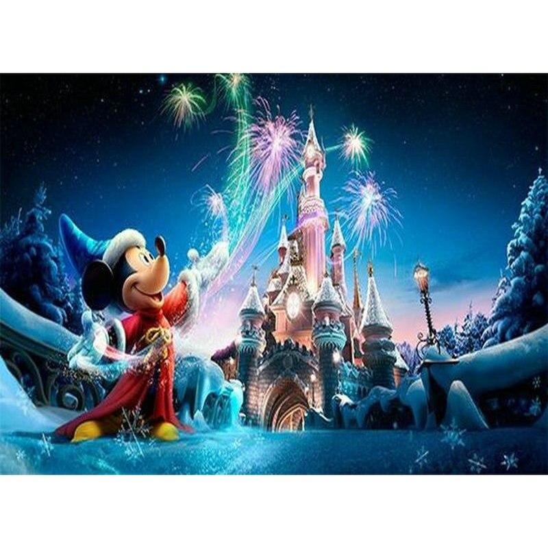 Cartoon 5d Diy Diamond Painting Disney Mickey Full Square / Round Drill New Arrival 3d Embroidery Rhinestone Mosaic Kids Gift