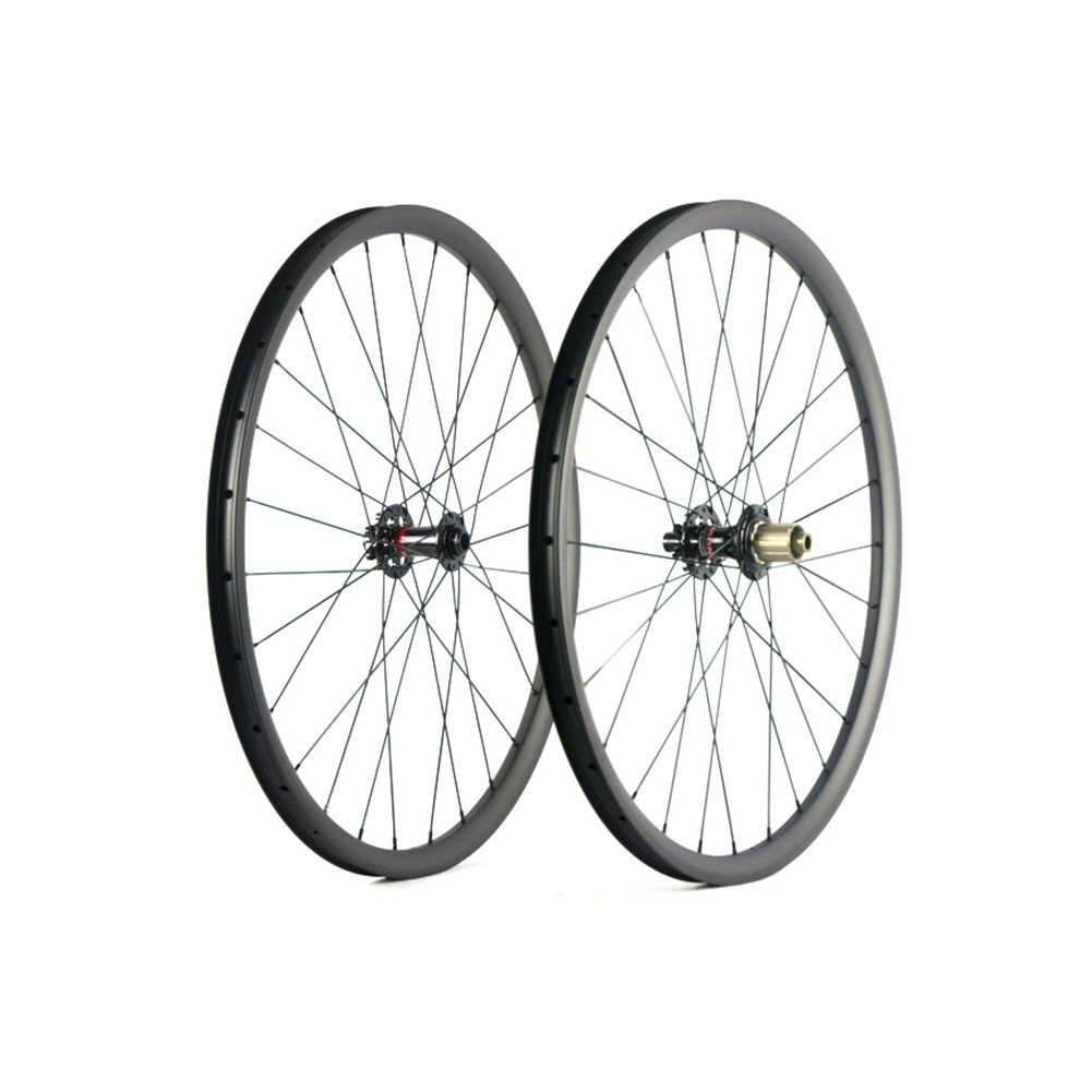 Spcycle 29er Carbon MTB Bicycle Wheels 29er Mountain Bike Carbon Wheelsets Novatec 791/792 Hubs Front 15mm Rear 12mm Thru Axle