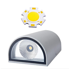 2016 Hot Selling 2*7W 14W COB LED Wall Light Up&Down Indoor or Outdoor LED Wall Lamp LED Corridor Lights Dimmable AC110V/220V