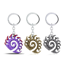 ORNAPEADIA StarCraft Key Chain Anime game peripheral Product Accessories StarCraft Zerg Logo KeyChain Fine Accessories wholesale hot game starcraft 2 zerg logo metal keychain for men jewelry