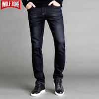 New Arrival Jeans Men Famous Designer Brand Clothing Mid Skinny Pants Mens Business Male Casual Solid