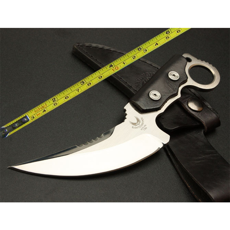 TOP quality C43 57HRC 5Cr13MoV blade Drawing Surface straight font b knife b font camping Hunting