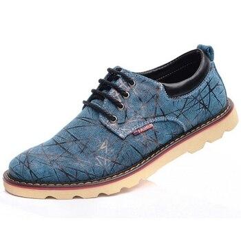 High Quality Fashion British Causal Canvas Oxford Men Shoes Brand Men Shoes Men Flats Casual Shoes Man Plus Size 28-68