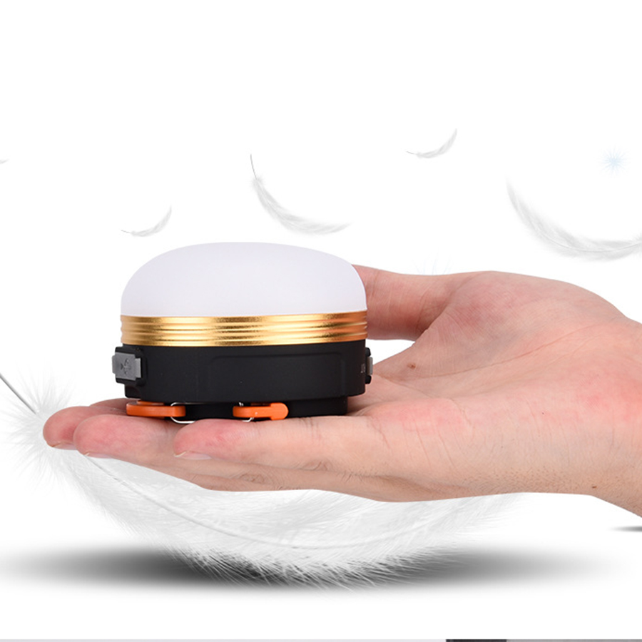 Camp Lights Lamp Mini Portable LED Camping Lantern Waterproof Tents lamp Outdoor Hiking Night Hanging Lamps USB Rechargeable