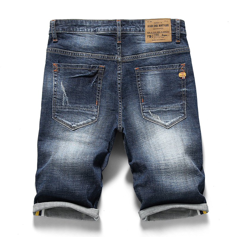 66c373869051e 2018 Men Clothing New Summer Men s Denim Shorts Fashion Stretch Slim Blue  Skinny Jeans Shorts Brands Plus Size 38 40 333-in Jeans from Men s Clothing  on ...