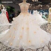 LS00264 Vestido De Noiva 2017 See Through Back Lace Gown Beading Wedding Dresses Real Photo Gelinlik