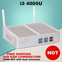 Mini PC Multimed Cheap Small Haswell Intel Nuc I3 4005U Windows 10 HTPC Fanless Computer Linux