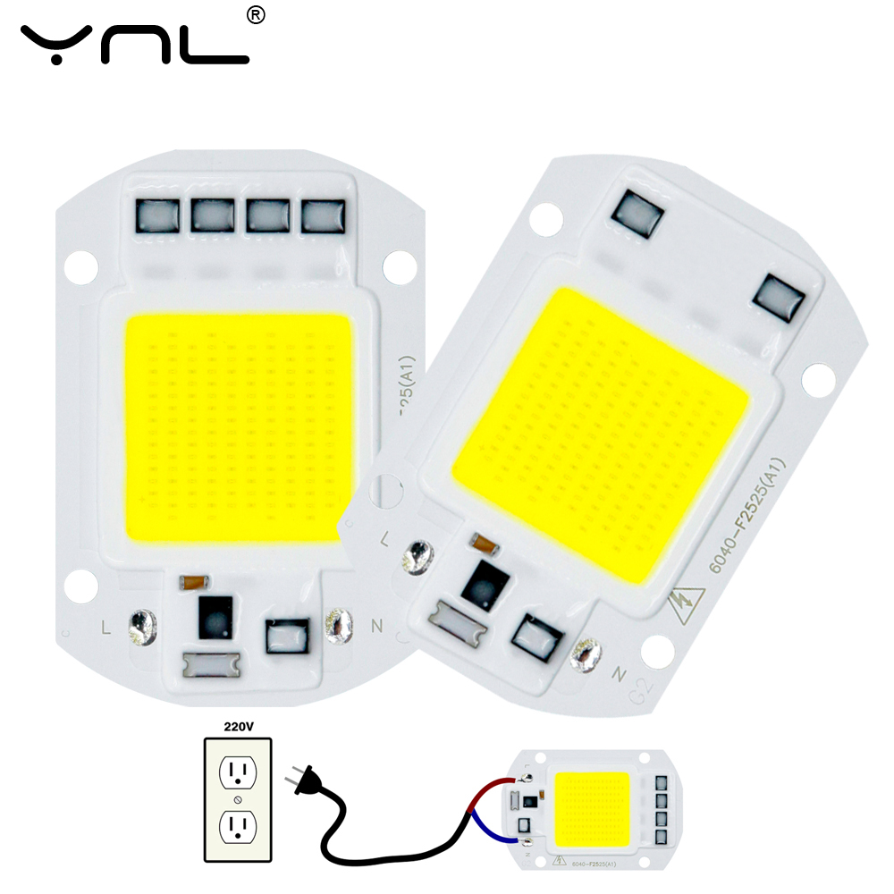 COB Chip <font><b>LED</b></font> <font><b>Lamp</b></font> AC 220V 10W 20W <font><b>30W</b></font> 50W Smart IC No Need Driver Lampada <font><b>LED</b></font> Bulb <font><b>Lamp</b></font> For Flood Light Spotlight Diy Lighting image