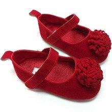 Праздничная детская обувь в цветочек От 0 до 1 года Ly Born младенец девочки первые ходунки детская обувь Новинка
