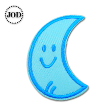 Moon 2.5x5.5cm Embroidered Patches for Clothing Iron on Clothes Patch Children DIY Sew on Applications Applique Sewing Circle girl 6x4cm small embroidered patches for clothing iron on clothes patch children diy sew on applications applique sewing cartoon