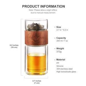 Image 5 - ONEISALL 200Mlขวดน้ำแก้วที่มีกระเป๋าBorosilicateชาInfuser Tumbler Drinkwareสมาร์ทขวด