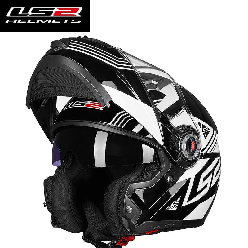 Hot Sale LS2 FF370 homens virar para cima do capacete de moto rcycle com interior ensolarado escudo modular capacetes de moto cruzeiro acessórios automotivos