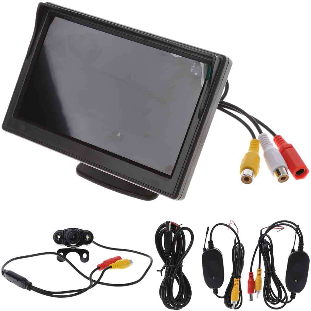 5 Wireless TFT-LCD+Car Rear View Monitor Reverse Backup Camera Night Vision Set axiom car vision 1100 page 5
