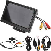 "5 ""Wireless TFT-LCD + Car Rear View Monitor Inverso Telecamera Backup Visione Notturna Set"
