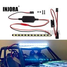 INJORA 12LED 130 MM סופר בהיר מתכת אור בר עם מתג עבור RC Rock Crawler הצירי Wraith סדרת 90018 90020 90045