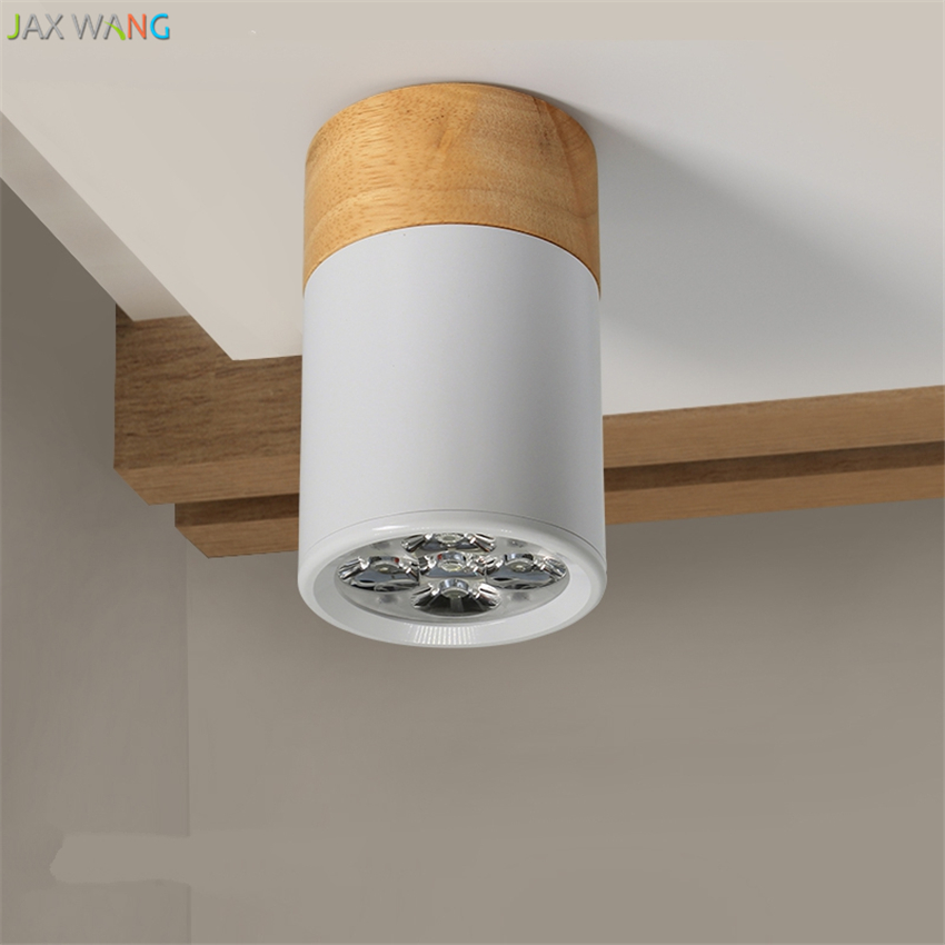 Us 28 01 20 Off Led Wall Mounted Barrel Light Ceiling Lights Flush Panel Living Room Solid Wood Round Aisle Balcony Lamps 3w5w Fixtures In
