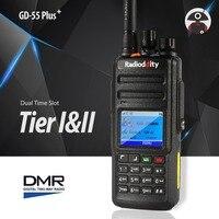 Radioddity GD 55 плюс рация UHF 400 470 МГц 10 Вт DMR радио цифровой/аналоговый Ham Радио водостойкий двухсторонний радио 2 антенны