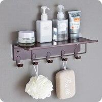 Vintage wrought iron frame kitchen bathroom shelf storage rack toilet non perforated wall hook wx8101012