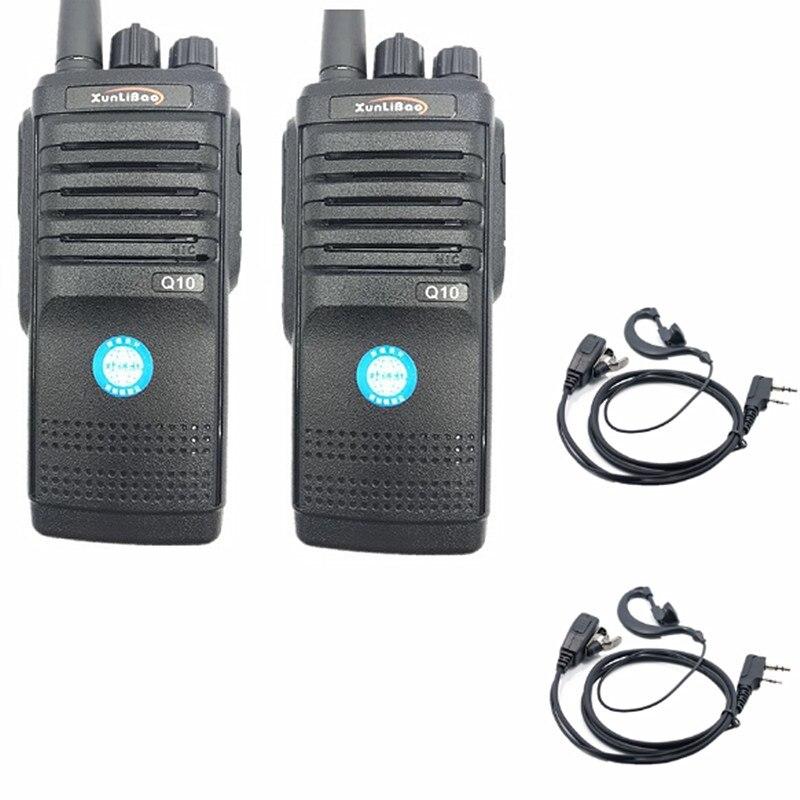 2PCS  Q10 Walkie Talkie High Power Two-Way Radio UHF Portable Ham FMR Xunlibao CB Radio 10W Programmable Interphone