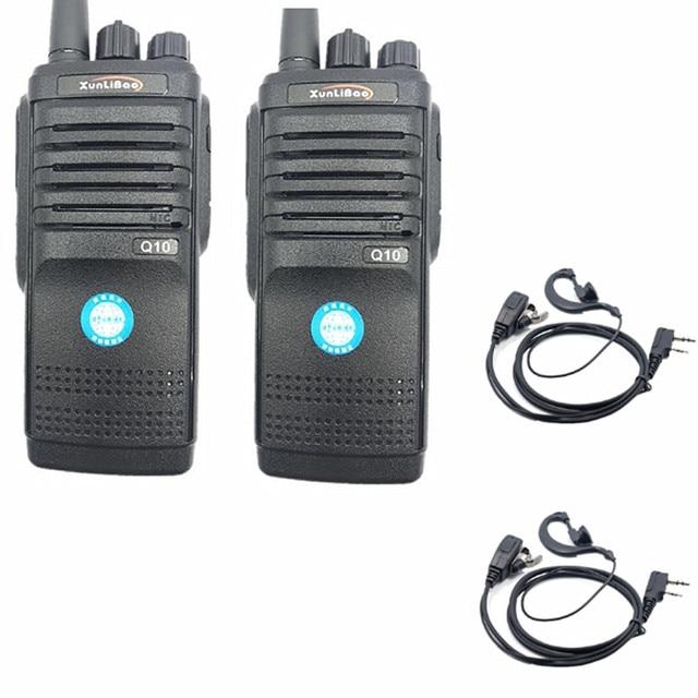 2PCS Q10 Walkie Talkie วิทยุสองทิศทาง UHF แบบพกพา FMR Xunlibao CB วิทยุ 10 W โปรแกรม Interphone