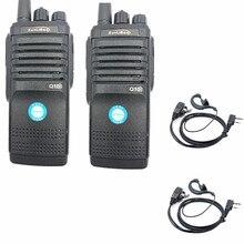 Walkie talkie q10 de alta potência, rádio com dois canais uhf, portátil, ham fmr xunlibao cb de 10 w, 2 peças interfone programável